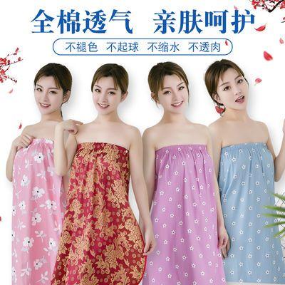 美容院顾客女士专用汗蒸服睡衣服纯棉抹胸裹胸浴裙浴巾浴袍