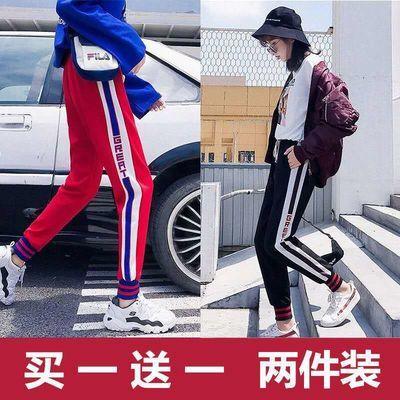 牛仔裤女宽松学生韩版九分裤女bf风夏季浅蓝色高腰显瘦简约哈