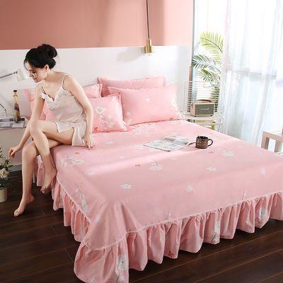 100%纯棉床裙三件套全棉枕套单件床罩床单床笠保护套韩式公主风