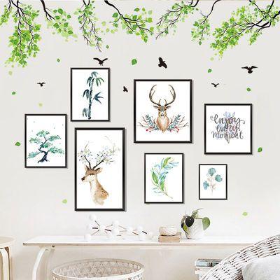 卡通墙贴纸贴画宿舍房间卧室背景墙装饰品墙纸壁纸可移除墙纸自粘