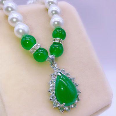合成珍珠项链女送妈妈韩版简约中老年母亲节锁骨链气质百搭保色