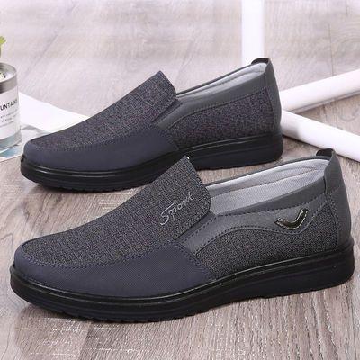 新款老北京布鞋男单鞋春秋款父亲鞋软底防滑中老年人爸爸鞋防臭休