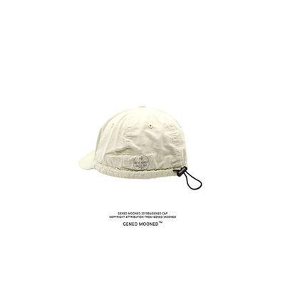 潮牌棒球复古水洗鸭舌帽工装软顶帽男女棒球帽黑色弯檐帽子男月子