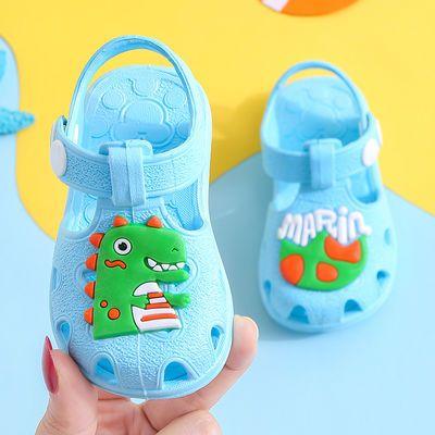 夏季儿童凉鞋男宝宝0-1-2岁3女童包头防水防滑软底学步鞋婴幼凉鞋