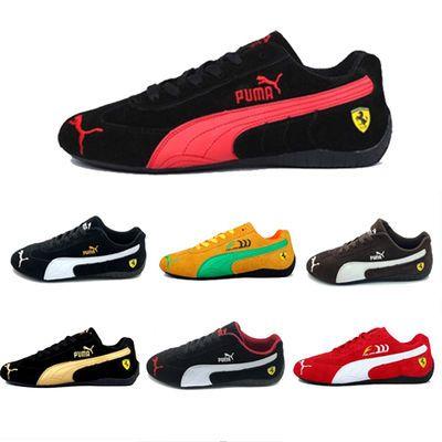 【送袜子】法拉利赛车鞋透气男鞋单鞋休闲情侣运动鞋女鞋平底跑鞋