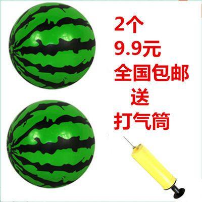 小皮球幼儿园儿童玩具西瓜球小孩宝宝拍拍球1到3岁弹力球送打气筒