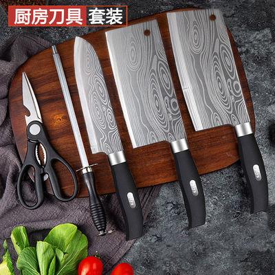 砍切两用刀全套厨具组合套装家用切片刀菜刀厨师刀水果刀厨房刀具