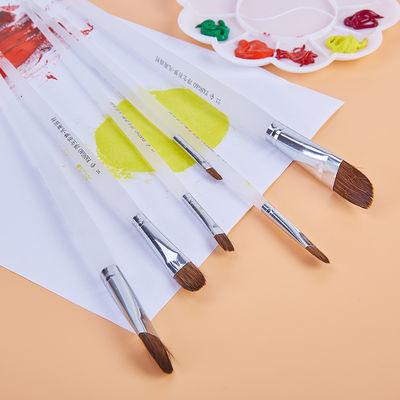 凡高牌水粉笔6支装磨砂圆头狼毫画笔水粉画笔套装油画美术绘画笔