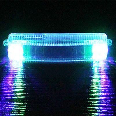汽车太阳能爆闪灯免接线中网日行灯防雾灯防追尾led警示灯装饰灯