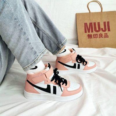 2020春季鞋子女学生韩版ins港风百搭运动高帮板鞋新款复古网红鞋