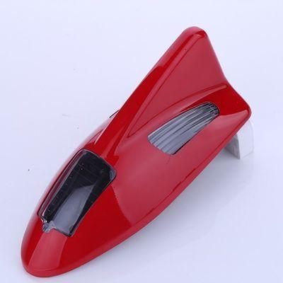 汽车防追尾LED爆闪灯太阳能防追尾警示灯鲨鱼鳍天线尾翼装饰灯