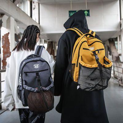潮牌ins风背包机能风双肩包时尚运动篮球包大容量高中大学生书包