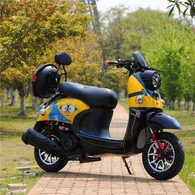 电喷摩托车燃油踏板助力车男女代步车小绵羊125cc小龟国四可上牌