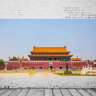 北京天安门广场城楼英雄纪念碑建筑人文景观摄影旅游海报装饰画7