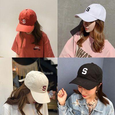 帽子男ins韩版亲子儿童棒球帽夏软顶字母刺绣鸭舌帽女防晒遮阳帽