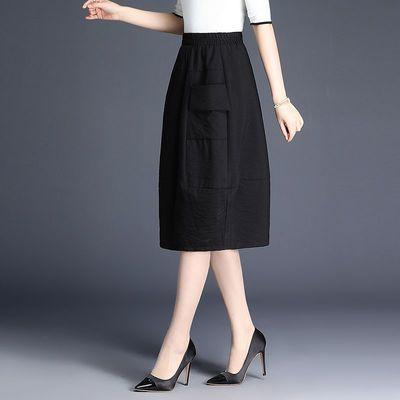 花苞裙半身裙女春新款高腰蓬蓬裙中长款港味宽松裙子显瘦灯笼裙
