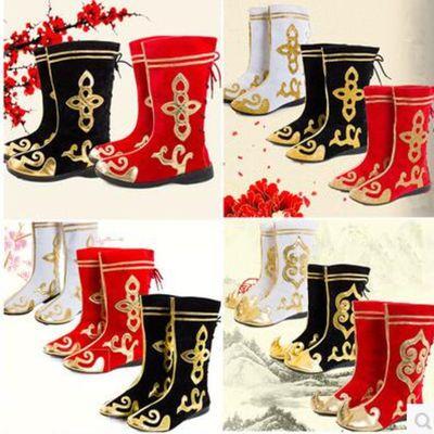 67654/新款藏族演出舞蹈靴子少数民族蒙古靴子男女款舞台演出舞蹈靴舞鞋