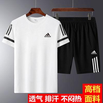 夏季运动套装男士短袖短裤两件套速干休闲健身跑步衣服宽松运动服