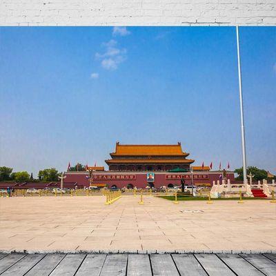 北京天安门广场城楼英雄纪念碑建筑人文景观摄影旅游海报装饰画9