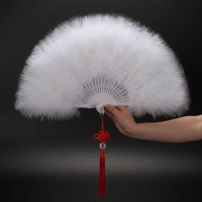 升级款全绒加厚羽毛扇标准扇 旗袍走秀舞台表演扇子舞蹈扇子5030