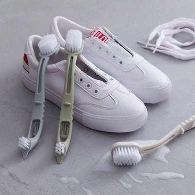 双头鞋刷子家用洗鞋子刷子刷鞋神器多功能硬毛洗衣服儿童软毛长柄