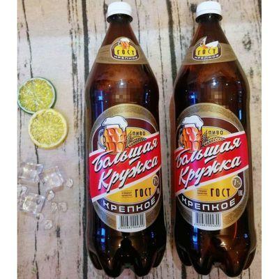 【1.4L6桶】俄罗斯原装进口波罗的海大杯子浓烈型高浓度啤酒桶装