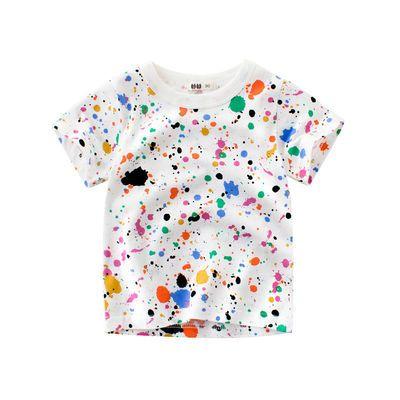 男童短袖t恤 儿童男女宝宝夏装纯棉 衫夏季1-8岁中小童上衣