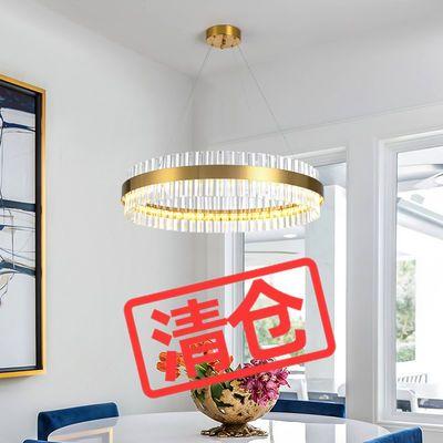 后现代吊灯轻奢水晶灯客厅灯卧室餐厅灯北欧简约LED灯具复式楼灯