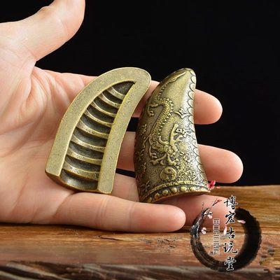 民俗古玩铜器纯铜圣杯阴阳铜卦求神问卜风水占卜法器复古铜器收藏