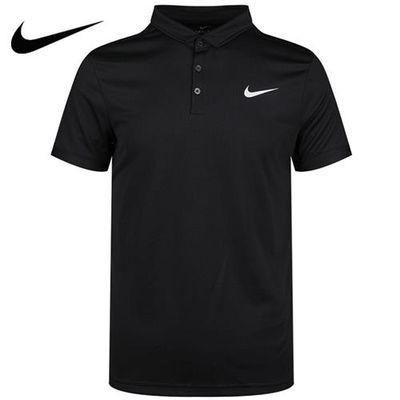 NIKE耐克短袖T恤男装2020新款运动半袖休闲翻领POLO衫AQ5304-010