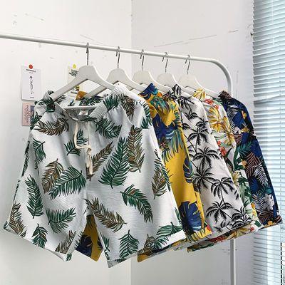 短裤男潮宽松港风潮流裤子加肥加大码运动五分裤休闲夏威夷沙滩裤