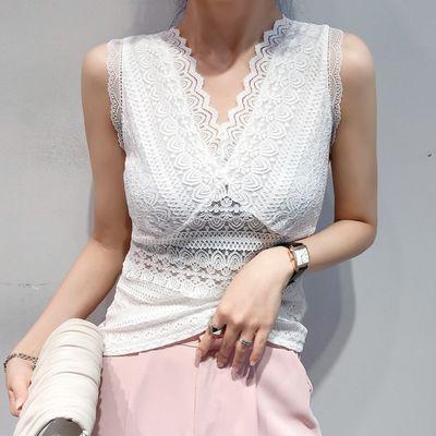 实拍2020夏装时尚外穿内搭蕾丝性感打底小衫修身显瘦吊带背心女潮