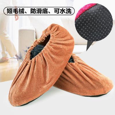 精品绒布鞋套加厚防滑可洗家用成人鞋套儿童学生鞋套机房鞋套脚套
