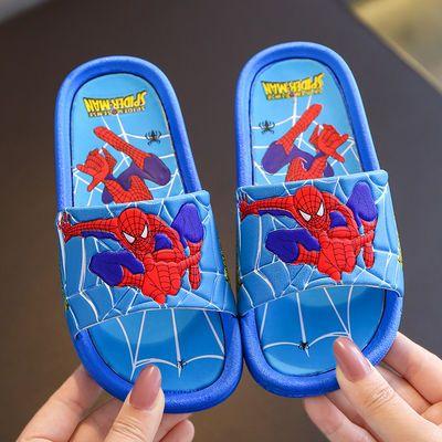 儿童拖鞋夏男童女童防滑软底室内洗澡小孩卡通蜘蛛侠小学生凉拖鞋