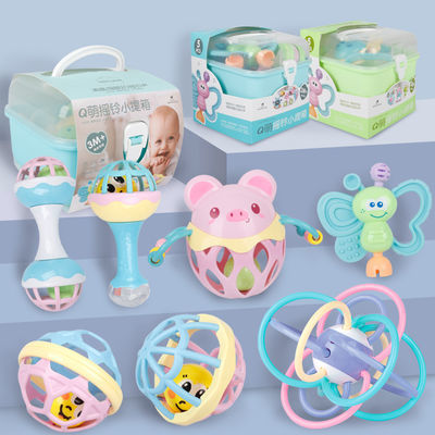 婴儿玩具3-6-12个月新生儿摇铃 0-1岁宝宝益智早教幼儿手摇铃牙胶