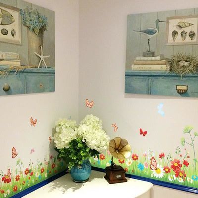 栅栏腰线贴踢脚线墙贴纸走廊玄关客厅卧室幼儿园布置可移除贴画