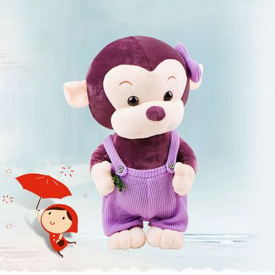 毛绒玩具可爱小猴子布娃娃玩偶女孩儿童生日礼物呆萌睡觉卡通公仔