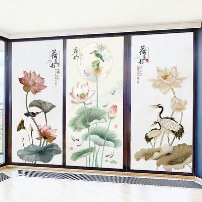 静电磨砂贴纸玻璃贴膜办公室窗户浴室卫生间移门窗透光不透明贴膜