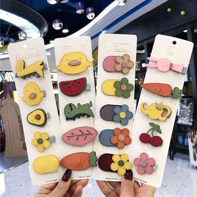 韩国ins发夹少女儿童卡通花朵发卡可爱bb夹刘海夹发饰边夹一字夹