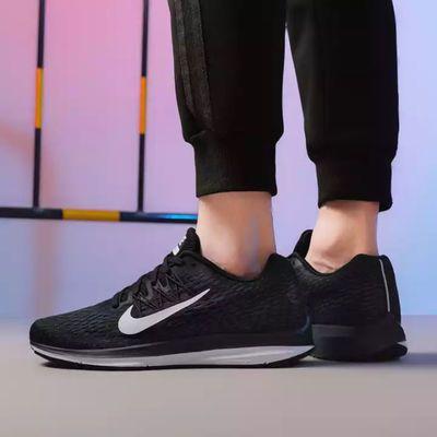 2020夏季男鞋运动鞋ZOOM飞线气垫登月跑步鞋女鞋休闲网面透气轻便