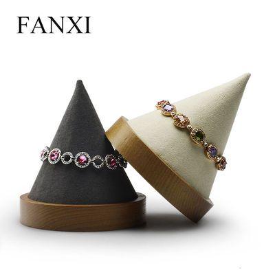 FANXI饰品展示架 创意圆筒实木日韩系列手镯架橱窗展示道具