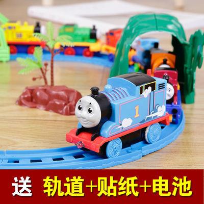 托马斯小火车玩具轨道套装电动火车模型合金磁力回力儿童玩具男孩