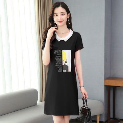 2020夏季短袖韩版宽松女装运动风休闲连衣裙羽毛球裙子中长款T恤