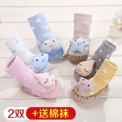 新生婴儿鞋袜夏季薄款儿童地板鞋防滑软底不掉春秋男女宝宝学步鞋