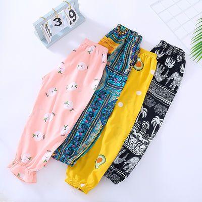 儿童棉绸灯笼裤宝宝男童女童睡裤空调裤薄夏季防蚊裤哈伦裤