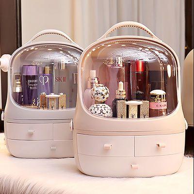 网红化妆品收纳盒大容量亚克力家用桌面防尘护肤品抽屉式梳妆台