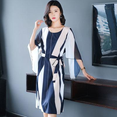 妈妈夏装洋气大码连衣裙中年妇女装30-40岁气质裙子高贵收腰显瘦