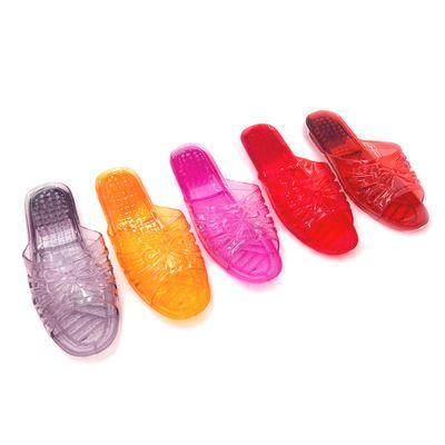 水晶透明塑料拖鞋女夏天学生可爱居家用室内浴室防滑平底防臭拖鞋