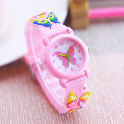 32858/可爱卡通蝴蝶小女孩手表韩版石英防水少女儿童电子小巧幼儿园腕表