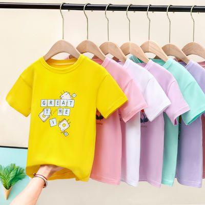 女童t恤短袖宽松夏装洋气纯棉薄款 宝宝大童2020新款夏季儿童上衣